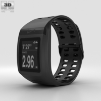 Nike+ SportWatch GPS Black 3D Model