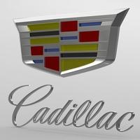cadillac logo 2 3D Model