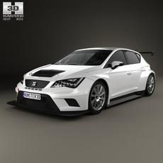 Seat Leon Cup Racer 2014 3D Model