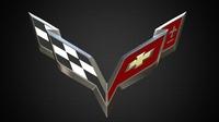 Chevrolet corvette logo 3D Model