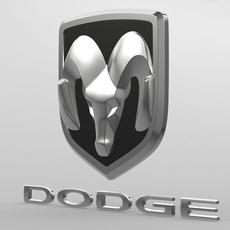 dodge logo 2 3D Model