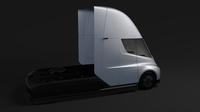 Tesla Semi 2axis 2018 3D Model