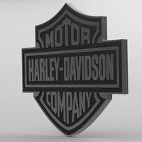 harley davidson logo 3D Model