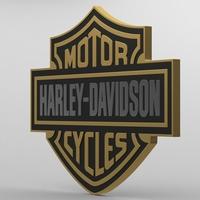 harley davidson logo 2 3D Model