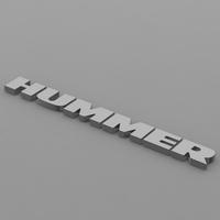 hummer logo 3D Model
