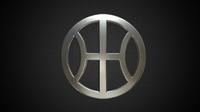 hybrid kinetic logo 3D Model