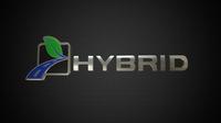 hybrid logo 3 3D Model