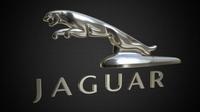 jaguar logo 3 3D Model