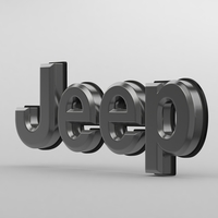 jeep logo 3D Model