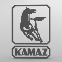 kamaz logo 2 3D Model