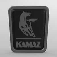 kamaz logo 3 3D Model