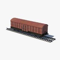 Box Car brown 3D Model