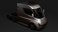 Tesla Semi LR 2018 3D Model