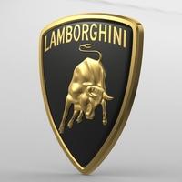 lamborghini logo 2 3D Model