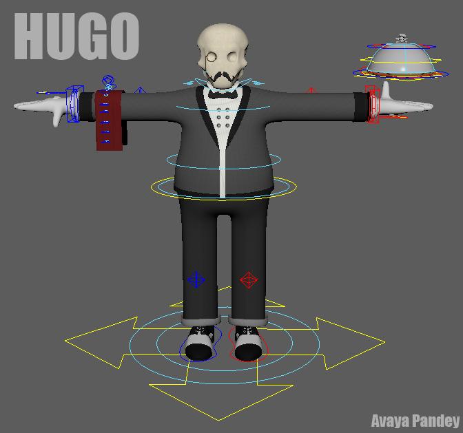 Hugo waiter extraordinaire for Maya - Free Character Rigs Downloads