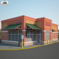Dunkin' Donuts Restaurant 03 3D Model
