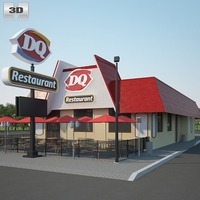 Dairy Queen Restaurant 03 3D Model