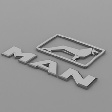 man logo 2 3D Model