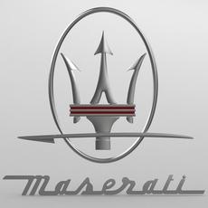 maserati logo 2 3D Model