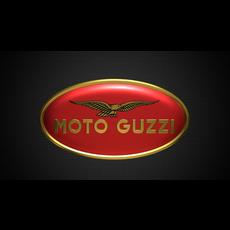 moto guzzi logo 2 3D Model