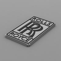 rolls royce logo 3D Model