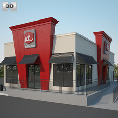 Jack in the Box Restaurant 01 3D Model
