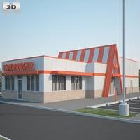 Whataburger Restaurant 03 3D Model