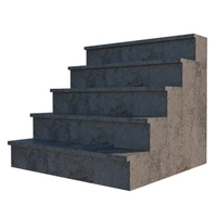 Grungy Concrete Steps 3D Model