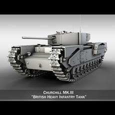 Churchill Infantry Tank MK.III 3D Model