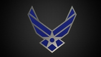 us air force logo 3D Model