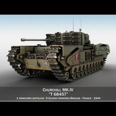 Churchill MK.IV - T68457 3D Model