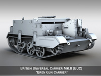 Universal Carrier MK.2 - Bren Gun Carrier 3D Model