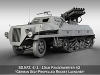 SDKFZ 4/1 - Panzerwerfer 42 3D Model