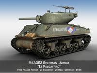 M4A3E2 - Sherman Jumbo - Lt Falgayrac 3D Model