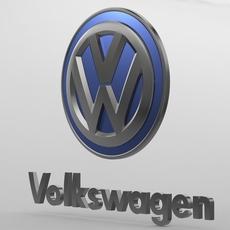 volkswagen logo 2 3D Model