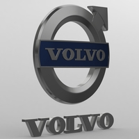 Volvo logo 3D Model
