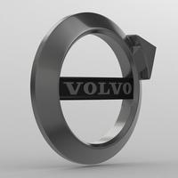 Volvo logo 2 3D Model