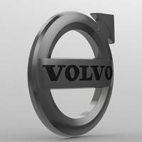 Volvo logo 3 3D Model