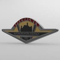 wartburg logo 2 3D Model