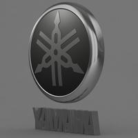 yamaha logo 2 3D Model