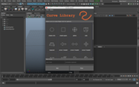 Curve Library 1.5.0 for Maya (maya script)