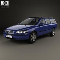 Volvo V70 2000 3D Model