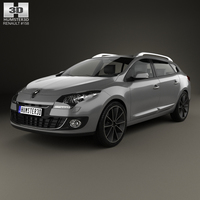 Renault Megane Estate 2012 3D Model
