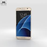 Samsung Galaxy S7 Gold 3D Model