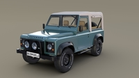 1985 Land Rover Defender 90 with interior ver 1 3D Model