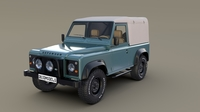 1985 Land Rover Defender 90 with interior ver 2 3D Model