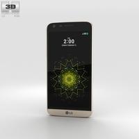 LG G5 Gold 3D Model