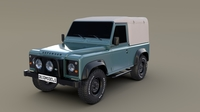 1985 Land Rover Defender 90 3D Model