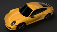 Porsche 911 Carrera T Coupe (991) 2018 3D Model