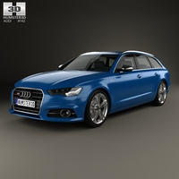 Audi S6 (C7) Avant 2014 3D Model